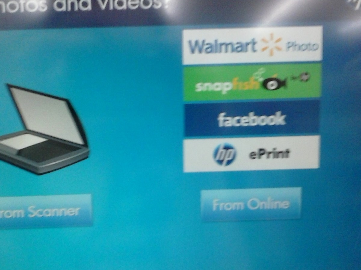 Choose the Walmart.com option to retrieve your photo album from online.