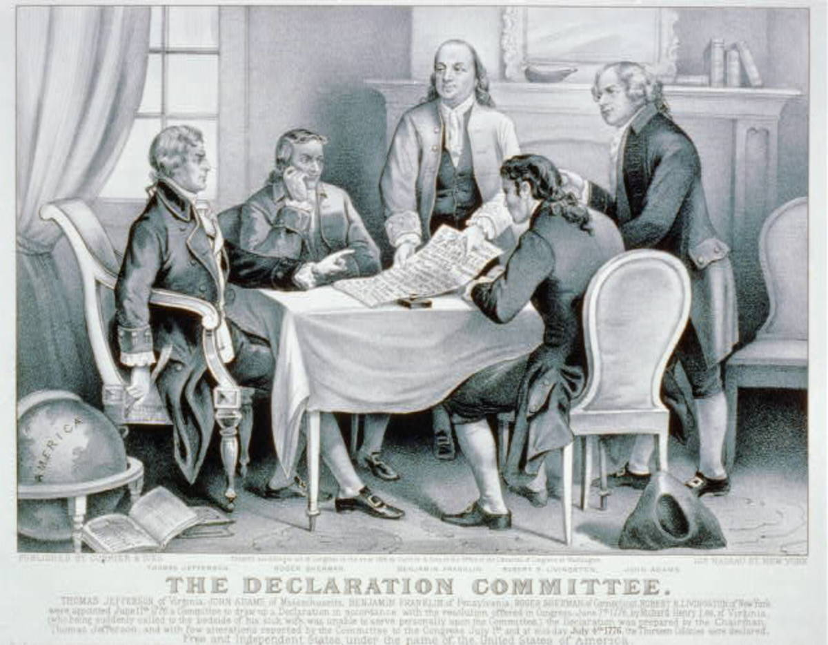 The Declaration Committee, by Currier & Ives (1876)