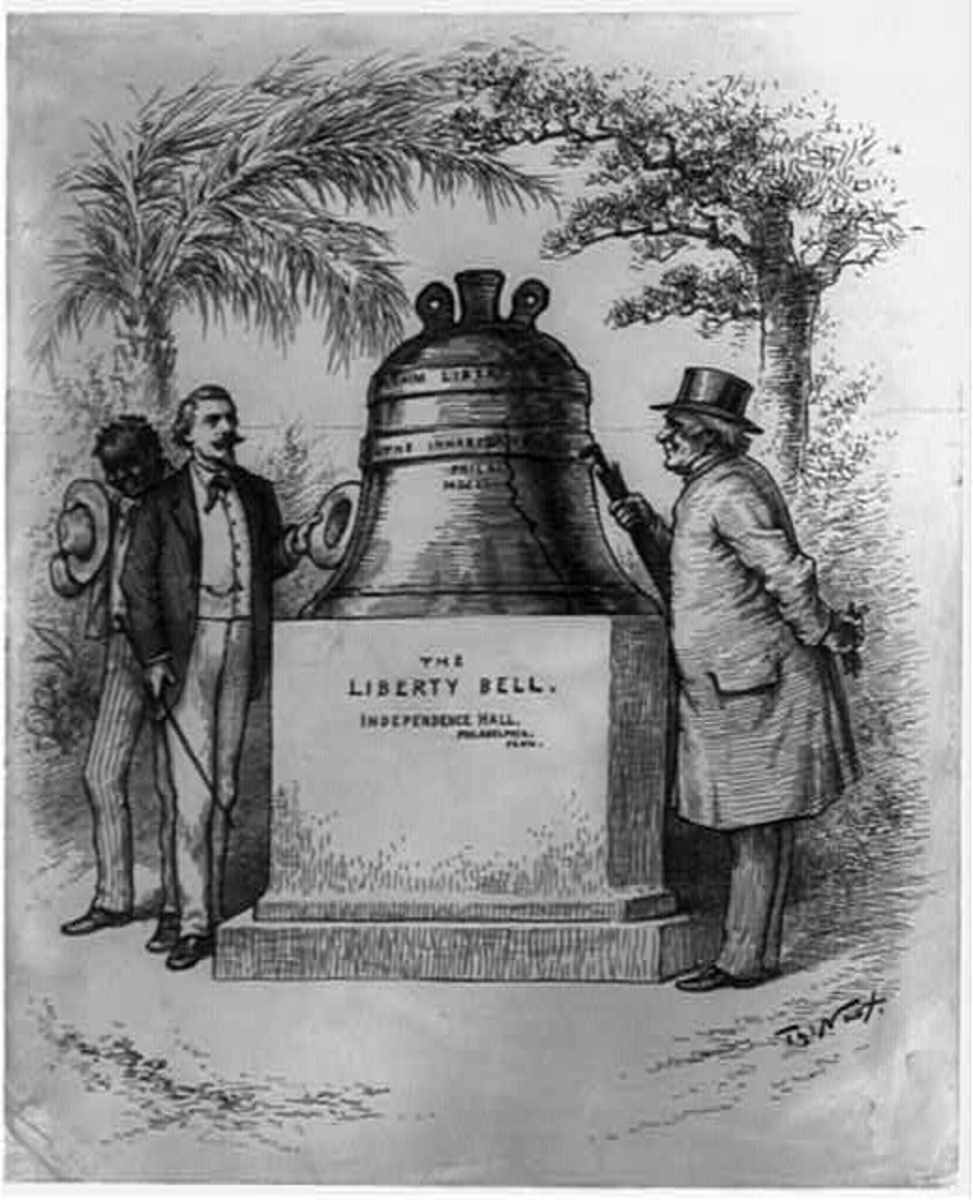 Drawing of the Liberty Bell, by Thomas Nast