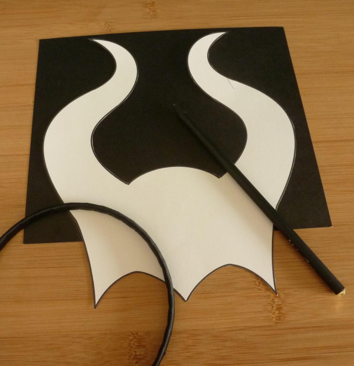 DIY Maleficent Angelina Jolie Horned Horns Headband Costume Accessory DIY How to Tutorial Craft