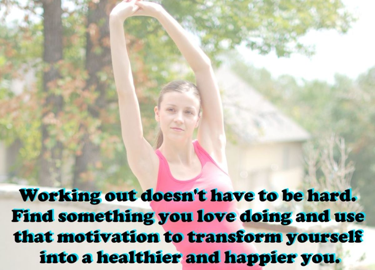 An inspirational quote for getting healthy.
