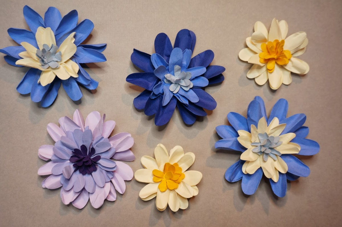 Plastic or paper/cardboard craft flowers make a wonderful substitute for the real thing when given to someone staying in the hospital.