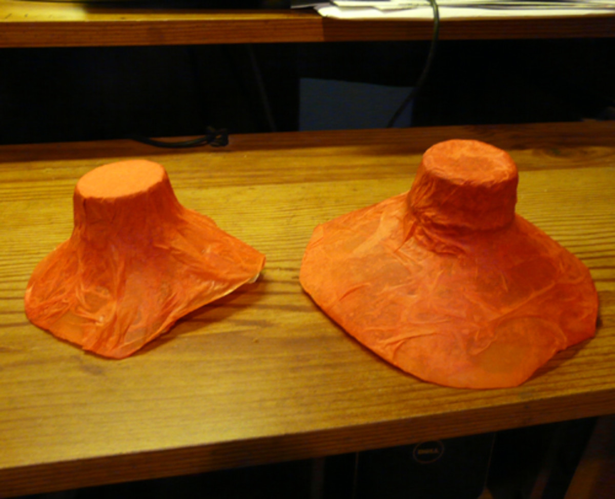 Covering milk jug lids with tissue paper