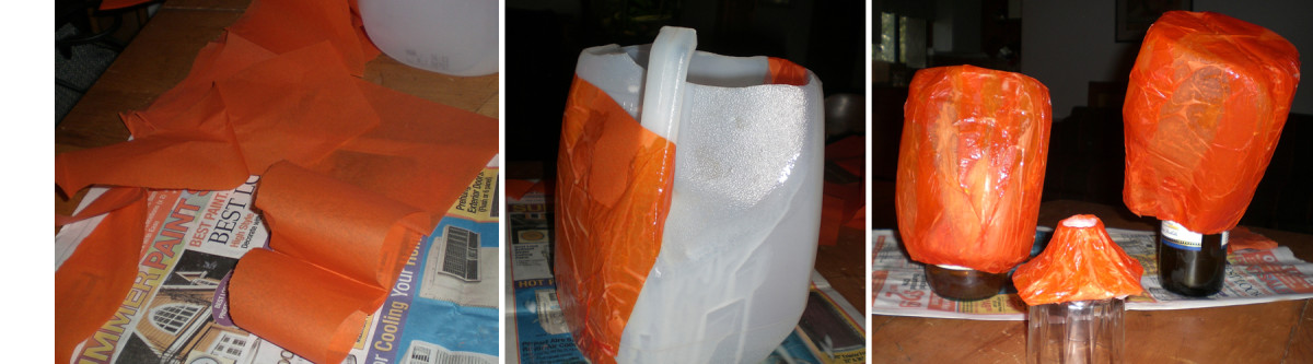 Covering Milk Jug with Tissue Paper