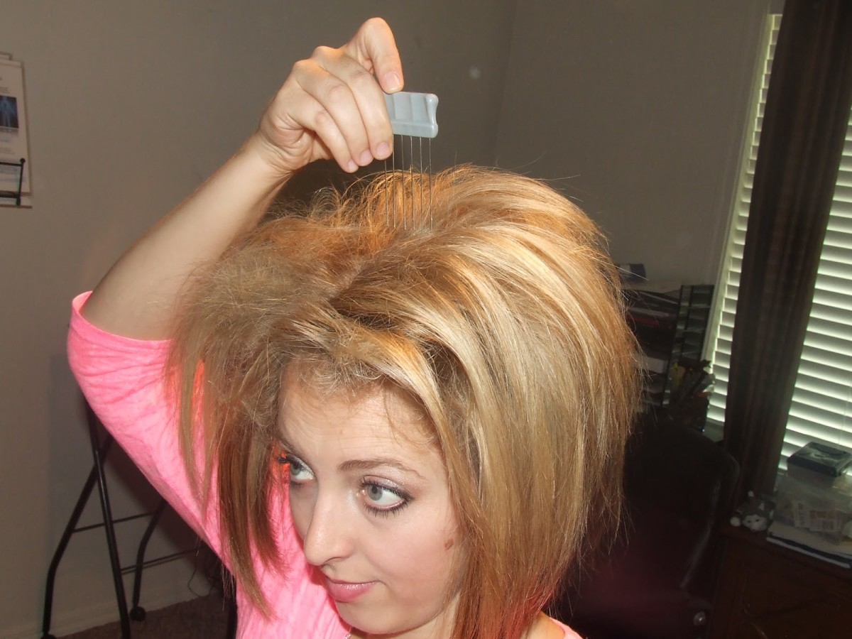 Back comb your hair for a wild look