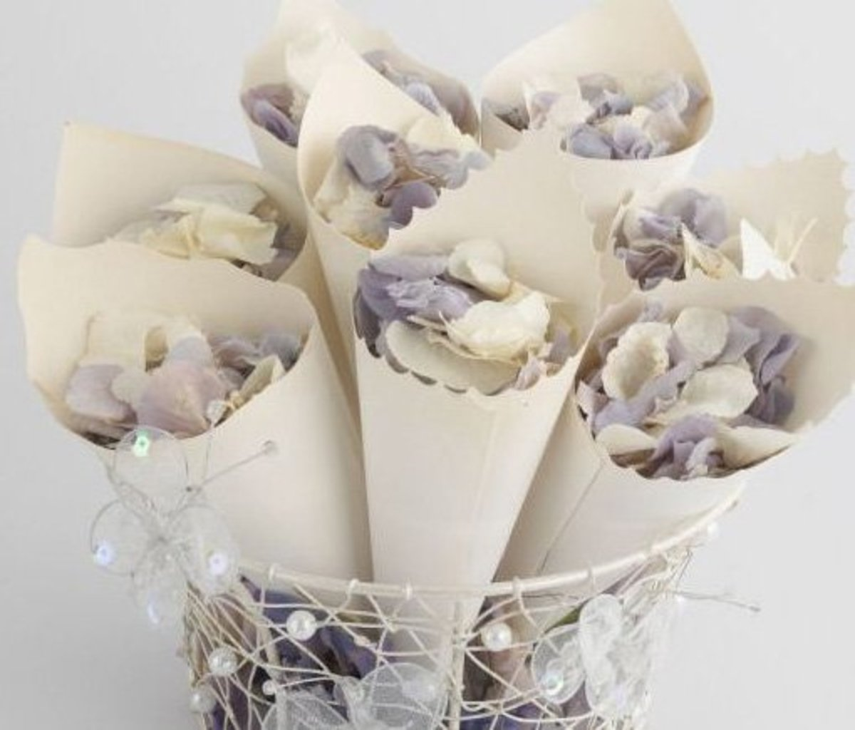 DIY Wedding Table Decoration Ideas | Confetti Cones | Click Pic for 20 Easy DIY Wedding Decorations
