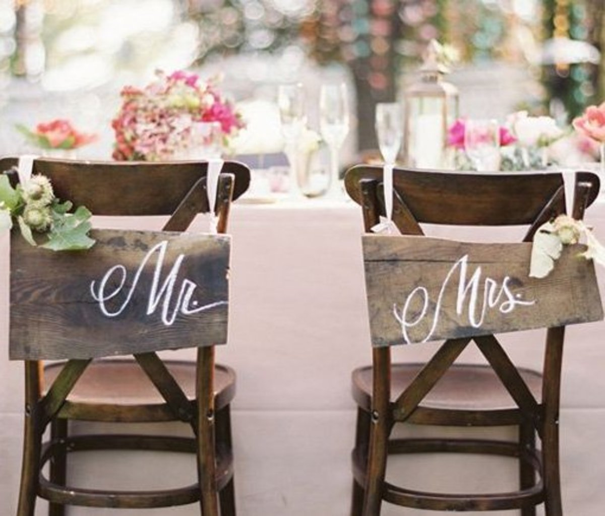 DIY Wedding Table Decoration Ideas   Bride n Groom Wedding Chairs   Click Pic for 20 Easy DIY Wedding Decorations