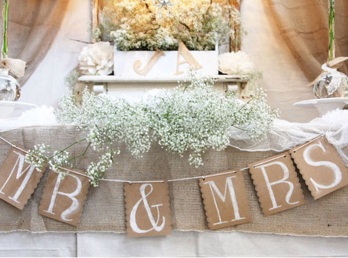 DIY Wedding Table Decoration Ideas | Rustic Head Table Sign