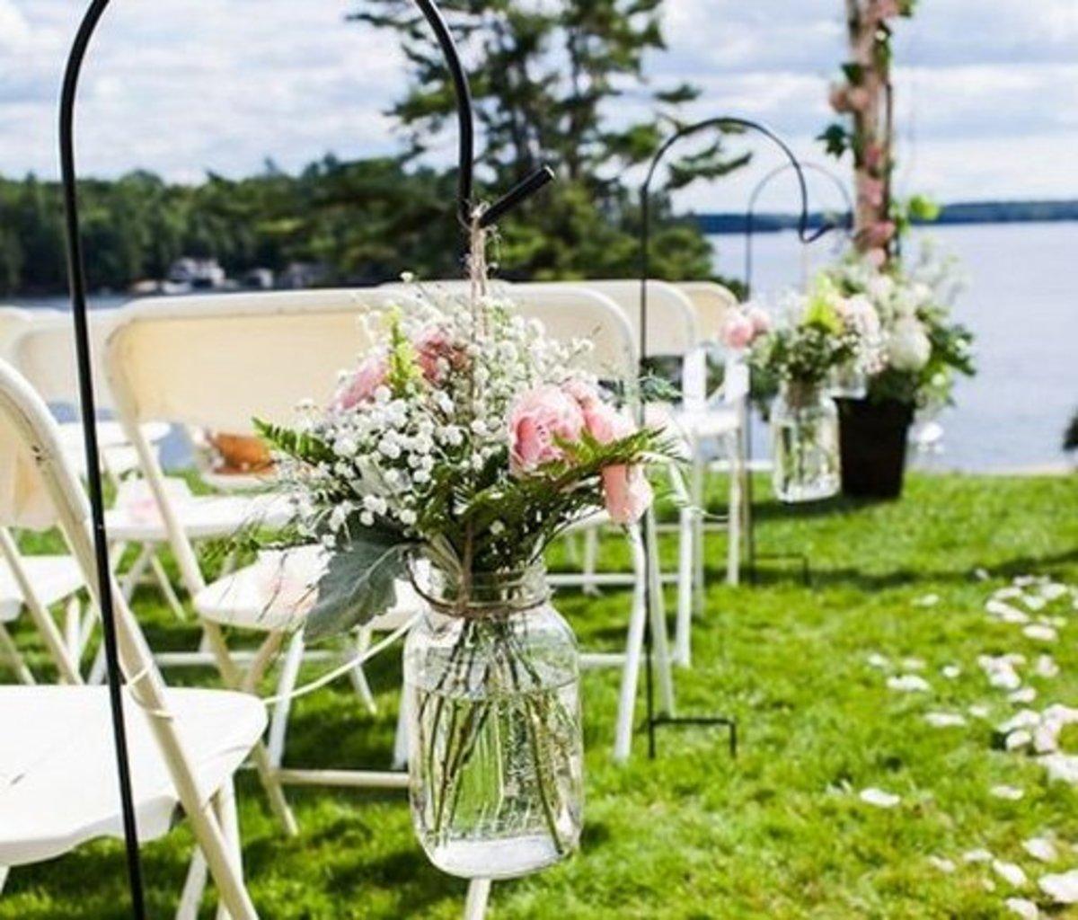 DIY Wedding Table Decoration Ideas   Mason Jar Floral Decorations   Click Pic for 20 Easy DIY Wedding Decorations