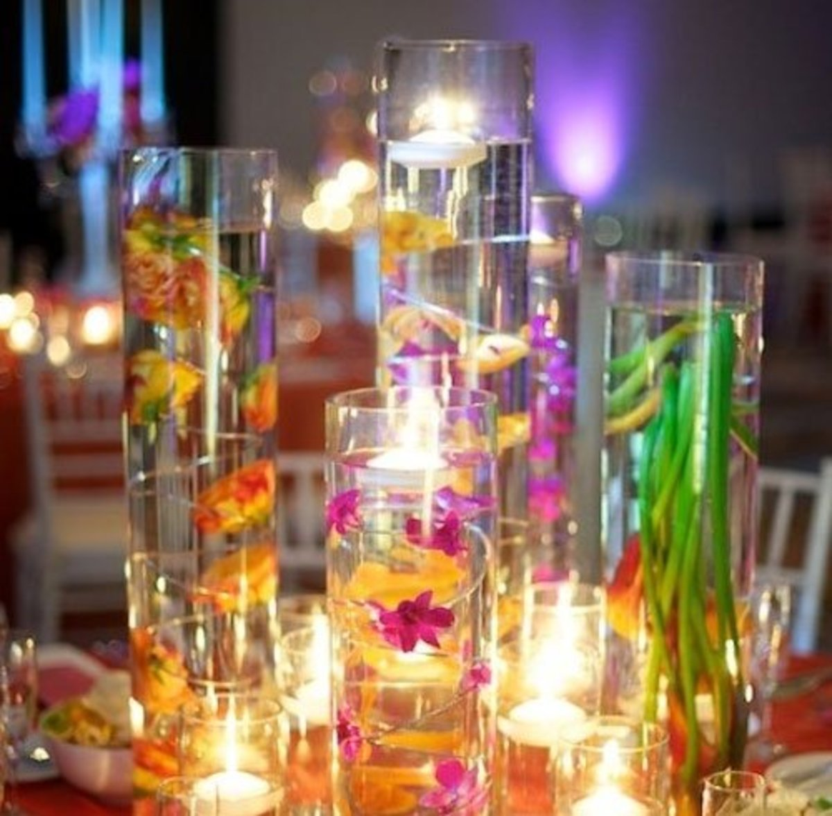DIY Wedding Table Decoration Ideas   Colorful Centerpiece   Click Pic for 20 Easy DIY Wedding Decorations