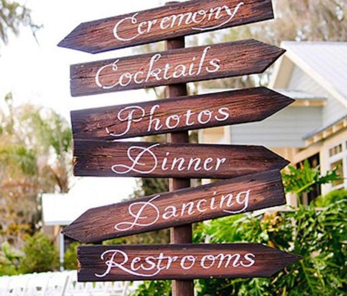 DIY Wedding Table Decoration Ideas   Wedding Signs   Click Pic for 20 Easy DIY Wedding Decorations