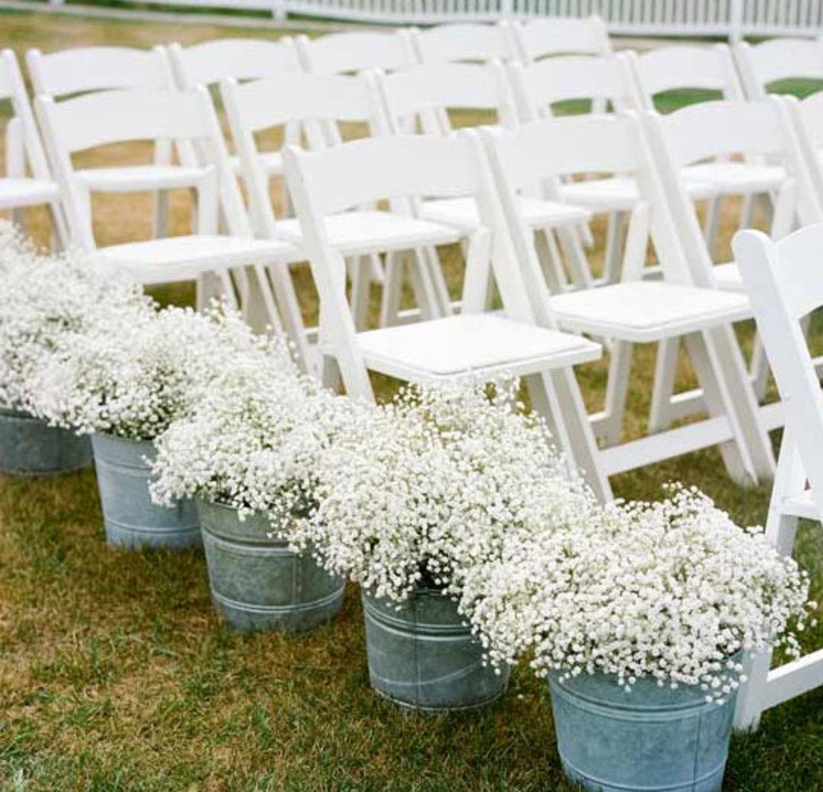 DIY Wedding Table Decoration Ideas   Babys Breath Ceremony Decor   Click Pic for 20 Easy DIY Wedding Decorations