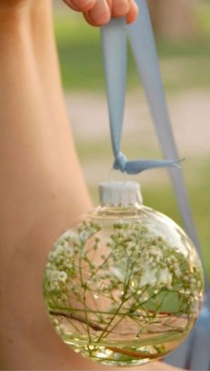 DIY Wedding Table Decoration Ideas   Floral Glass Ball   Click Pic for 20 Easy DIY Wedding Decorations