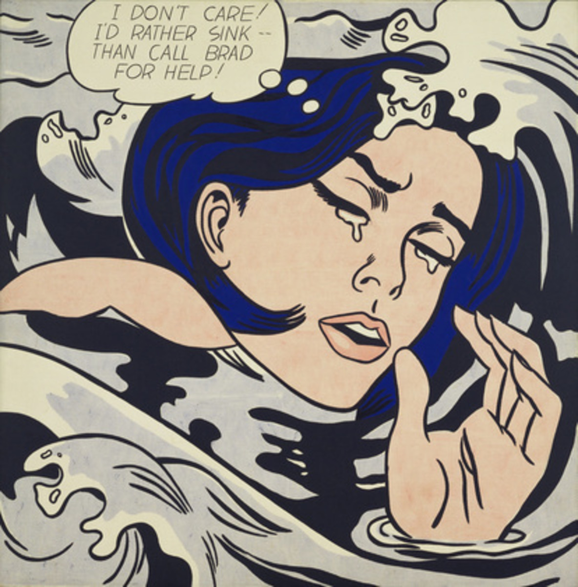 Roy Lichtenstein's 'Drowning Girl'.