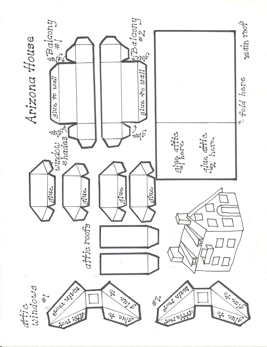 Roof and accessories for the Arizona House pattern.