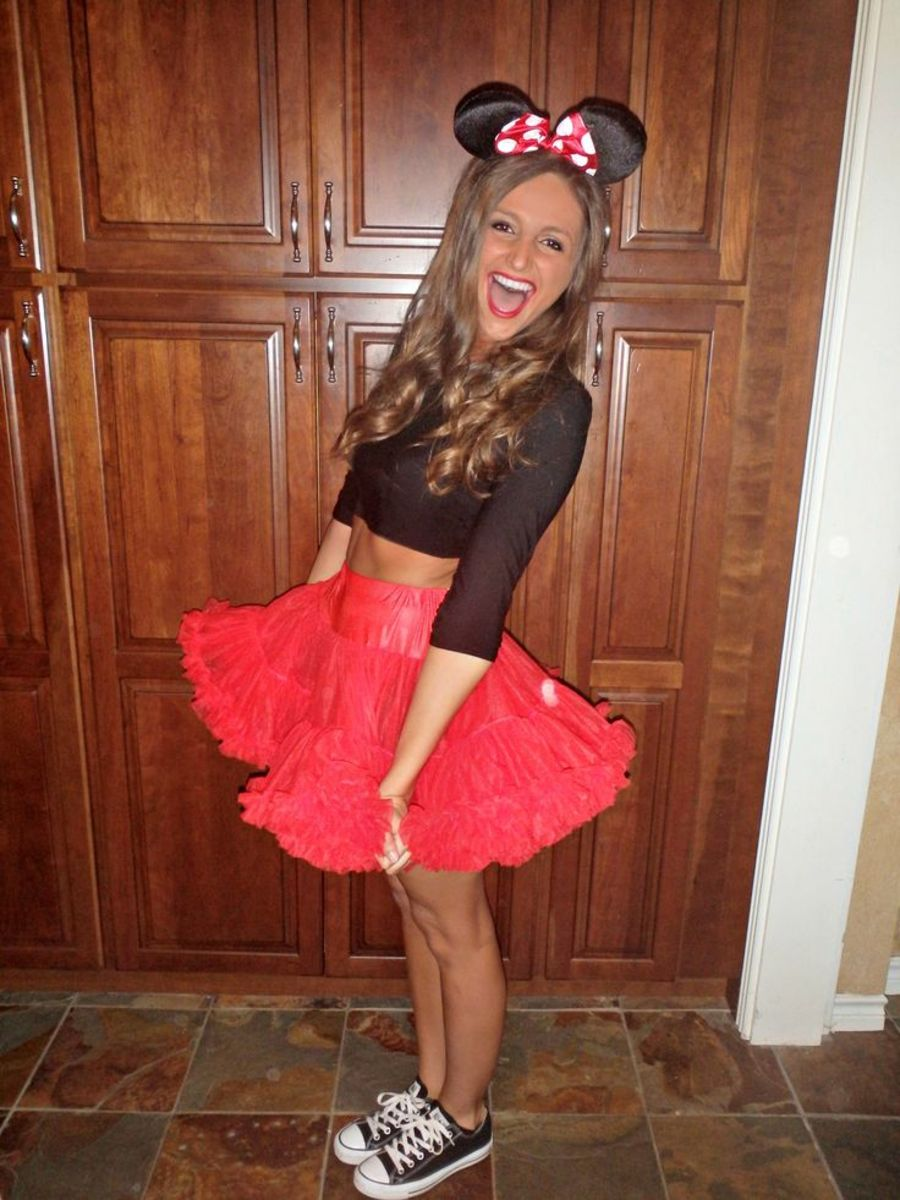 Homemade Minnie Mouse Costumes For Teenagers Minnie Mouse  Diy Halloween