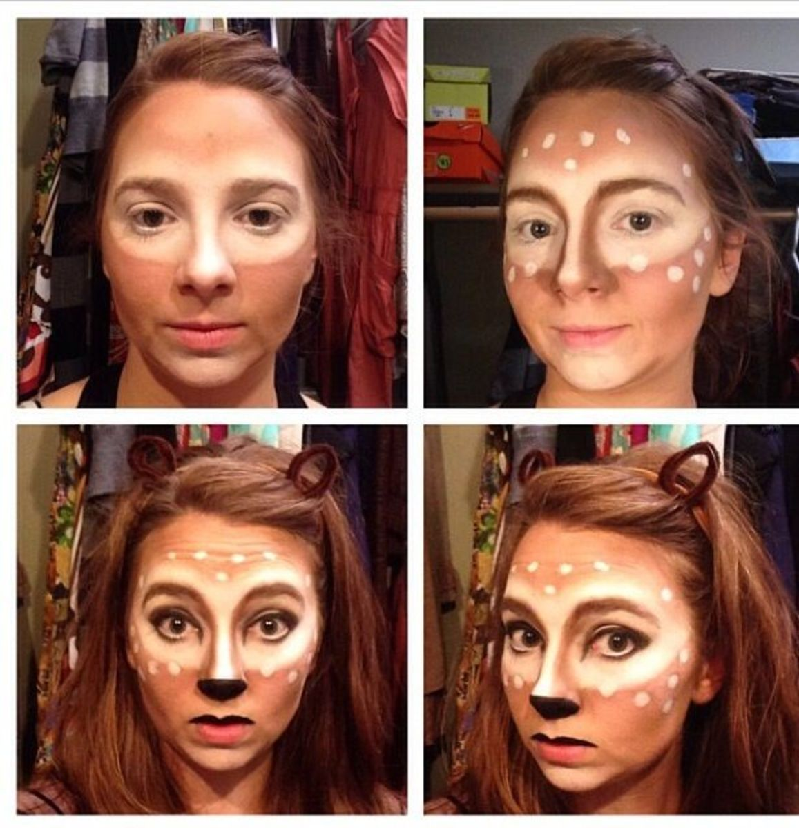 deer make up diy halloween costume ideas