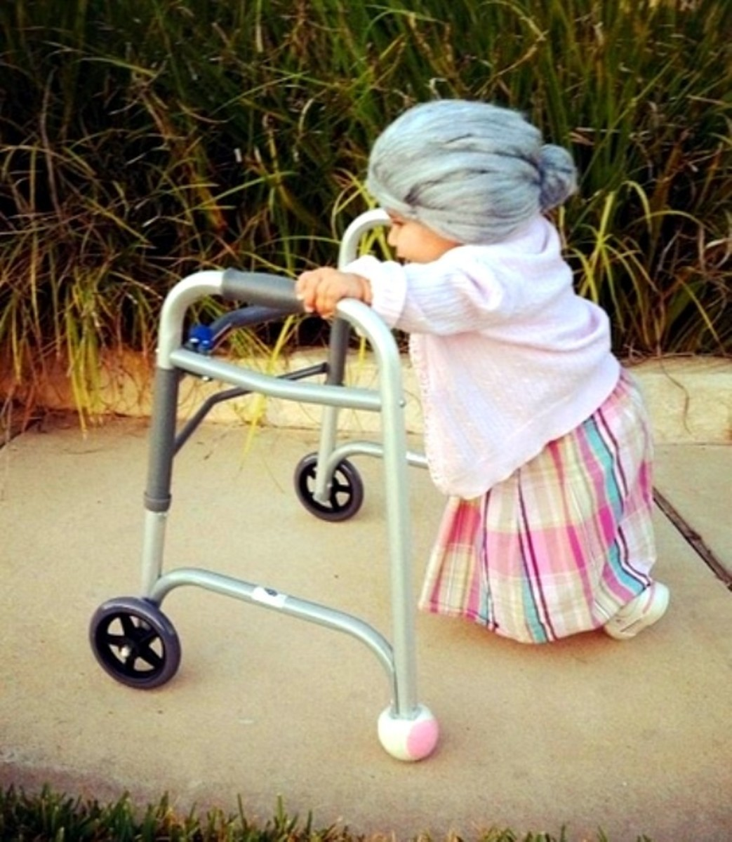 little girl as old woman diy halloween costume ideas - Ideas For Girl Halloween Costumes