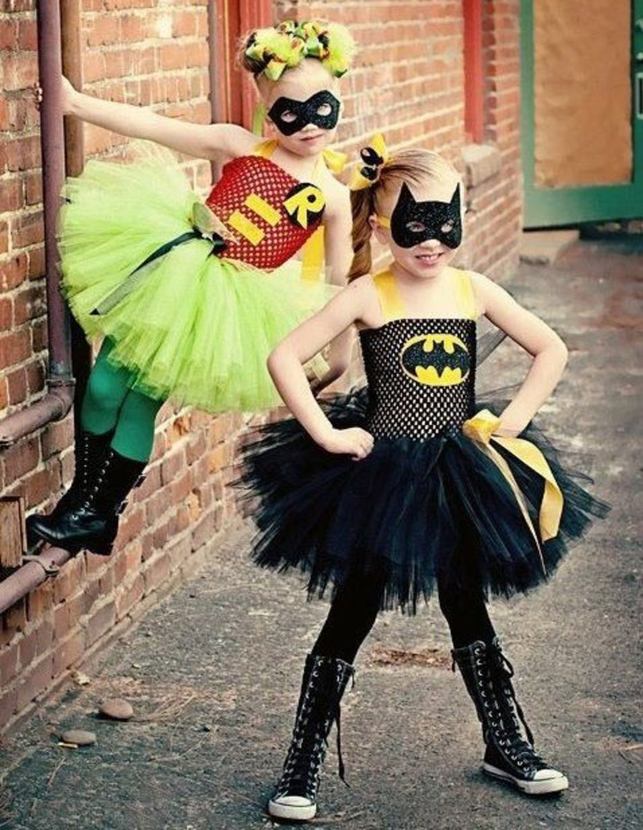 Bat Girl and Robin Costumes