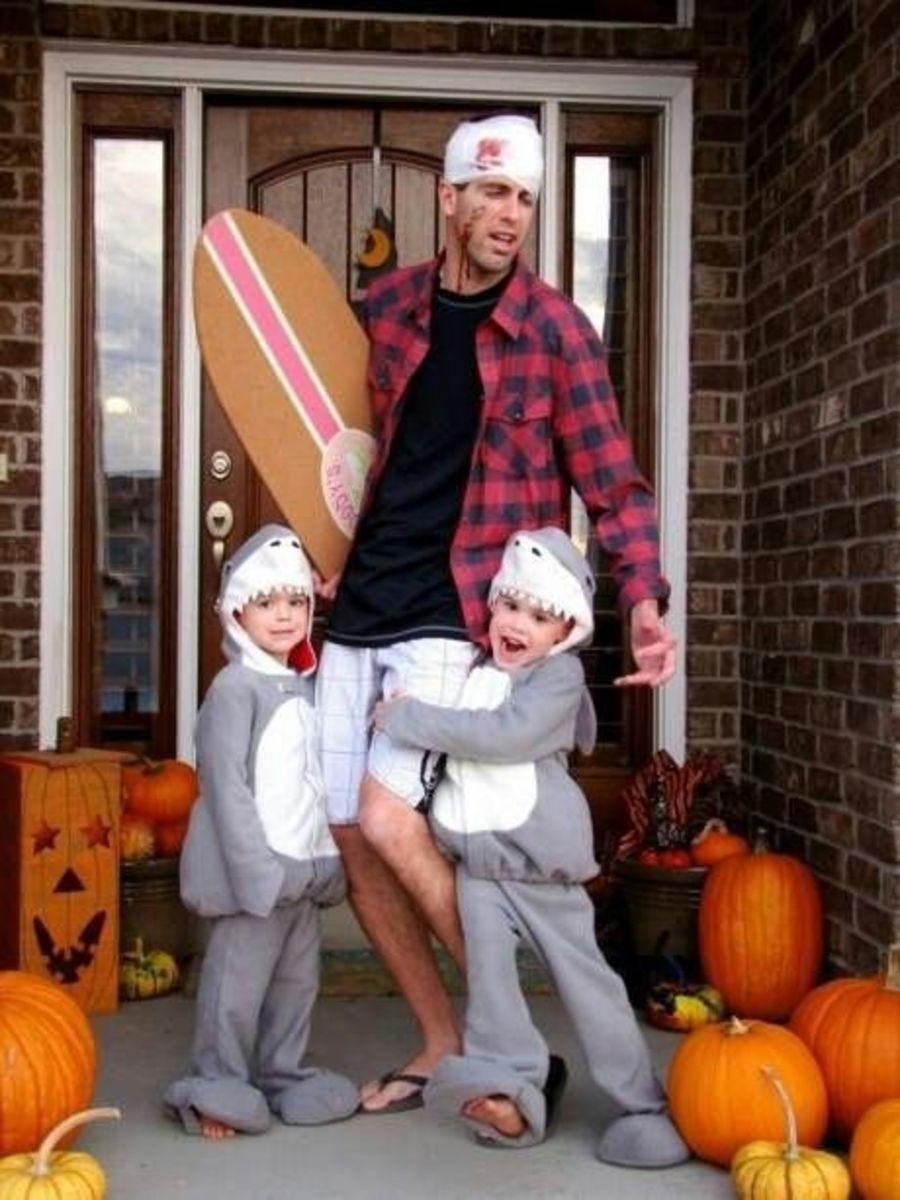 cute sharks diy halloween costume ideas - Easy Cute Halloween Costume
