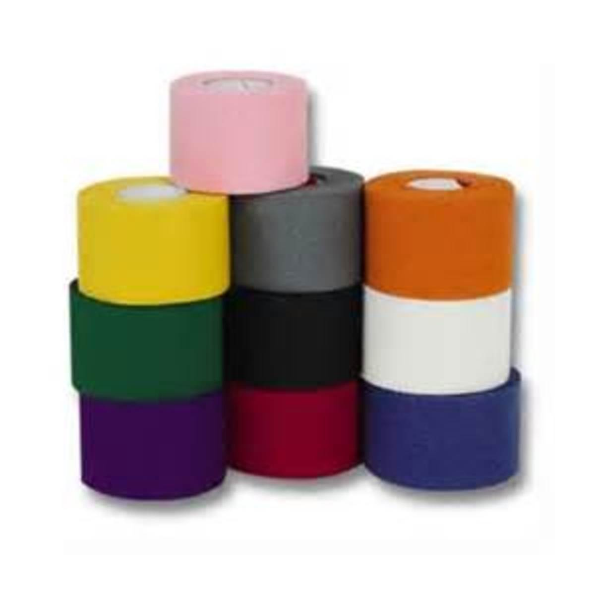 Athletic tape comes in many different colors