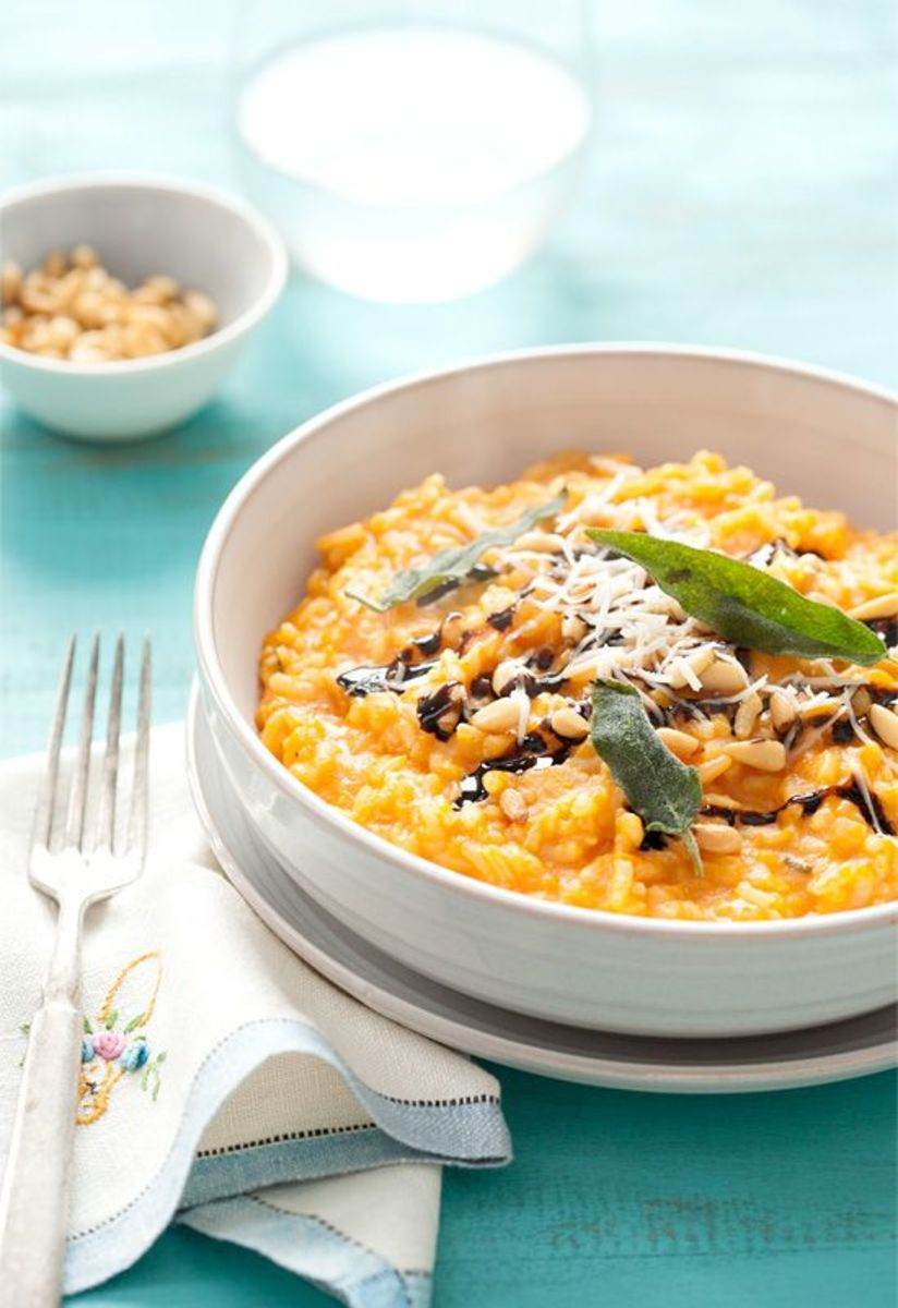 Butternut squash risotto is a great twist for Thanksgiving!