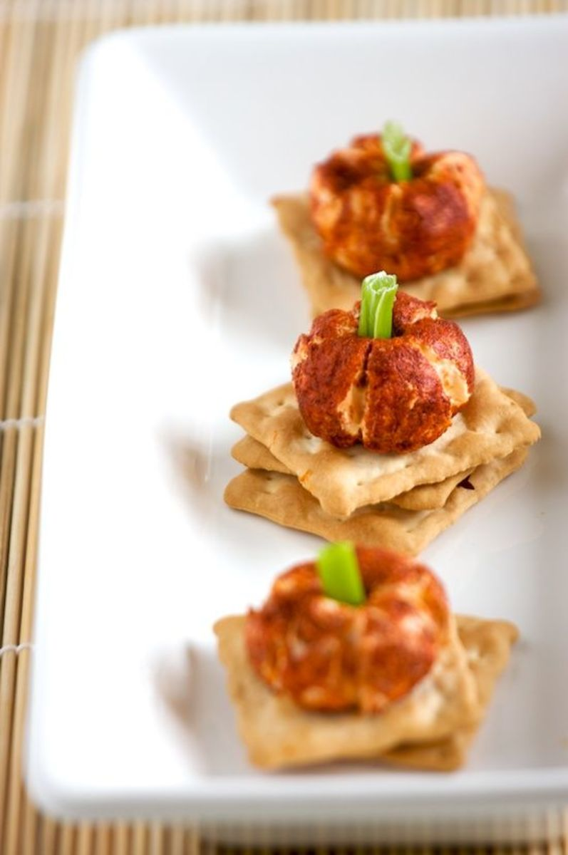 These mini pumpkin-shaped cheese balls are an elegant appetizer that requires hardly any effort.