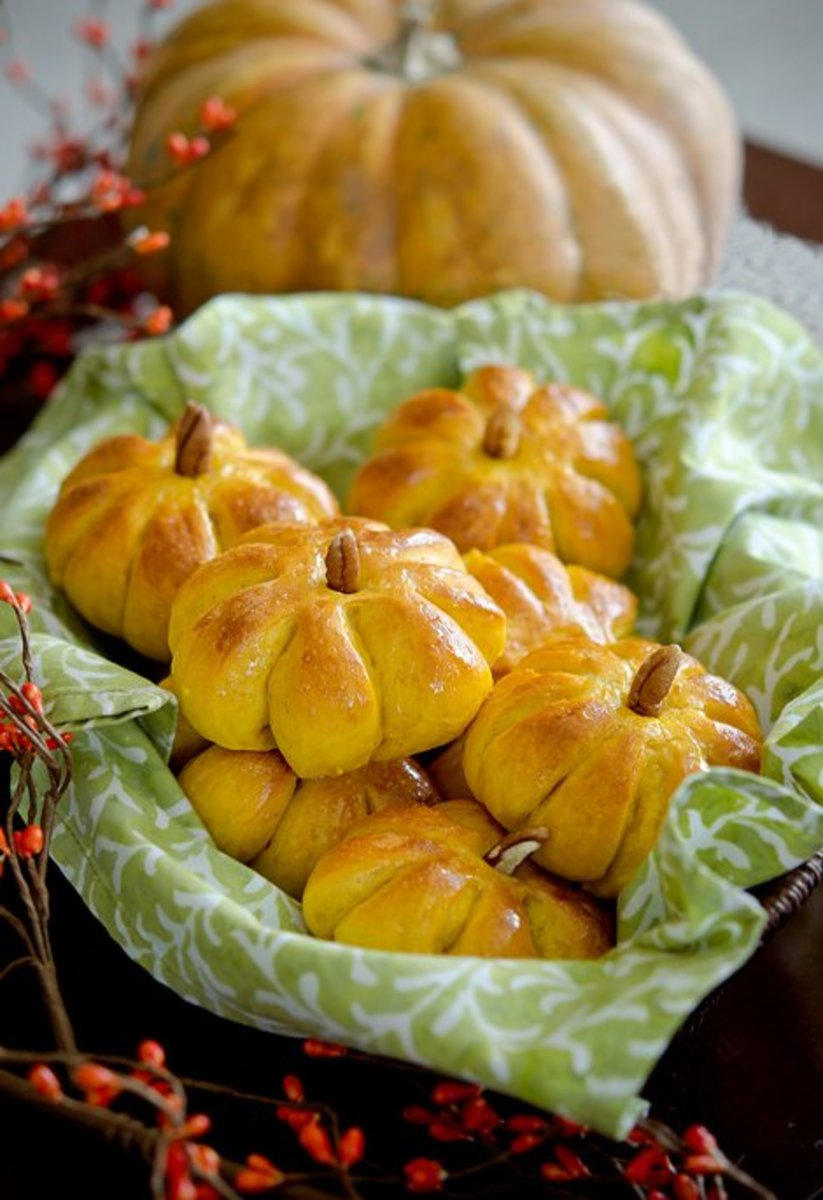These soft and  irresistible pumpkin-shaped dinner rolls will be gone in minutes!