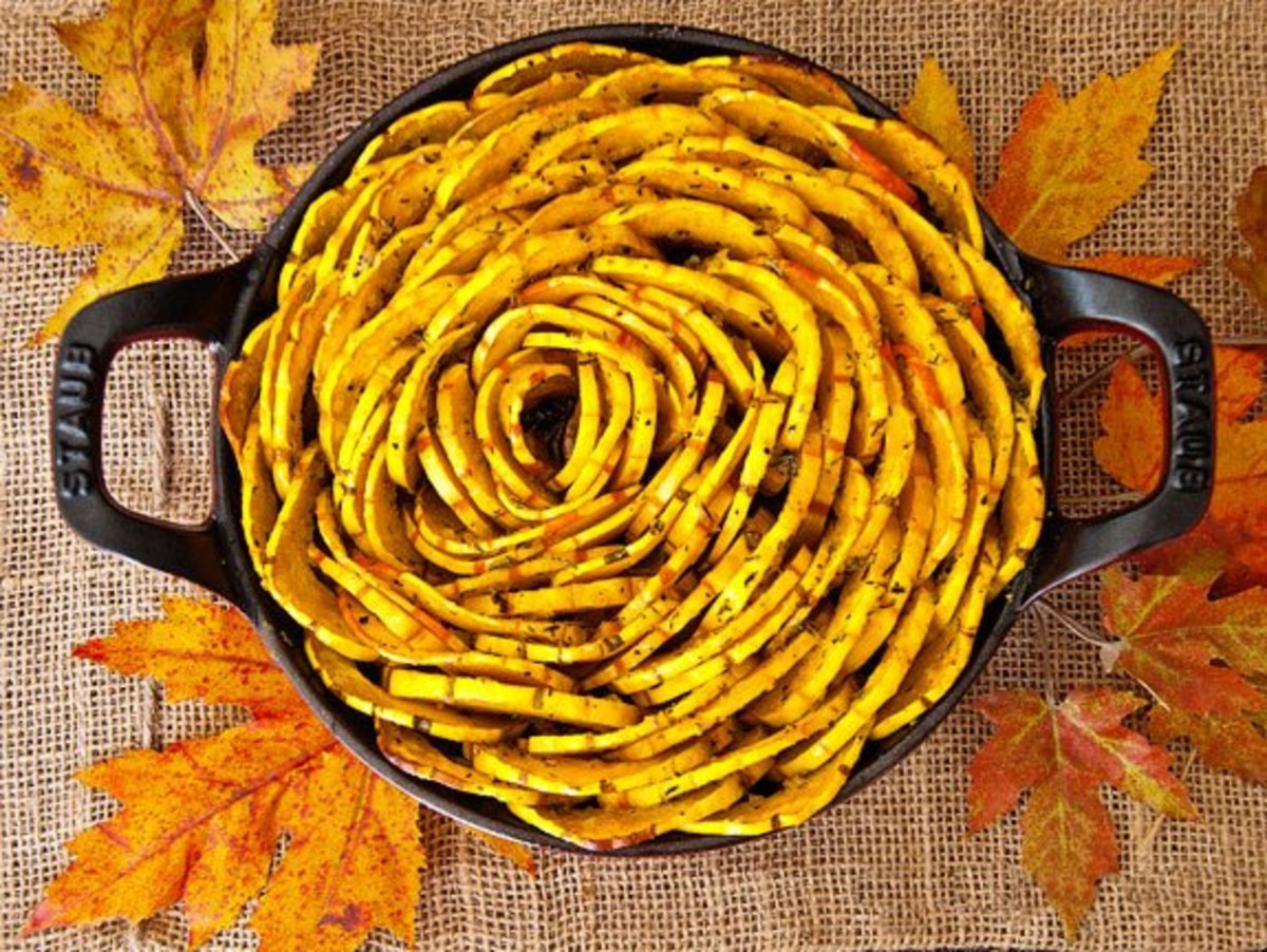 "This recipe for this roasted squash ""blossom""' will make you the star of Thanksgiving dinner!"