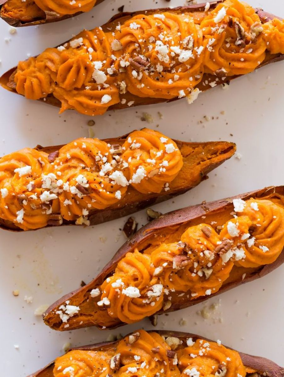 Thanksgiving traditions could use a little refreshing, and this  twice-baked sweet potatoes will certainly do the trick.
