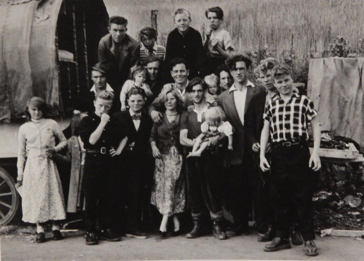 A Traveller Family visiting the Puck Fair, Killorglin