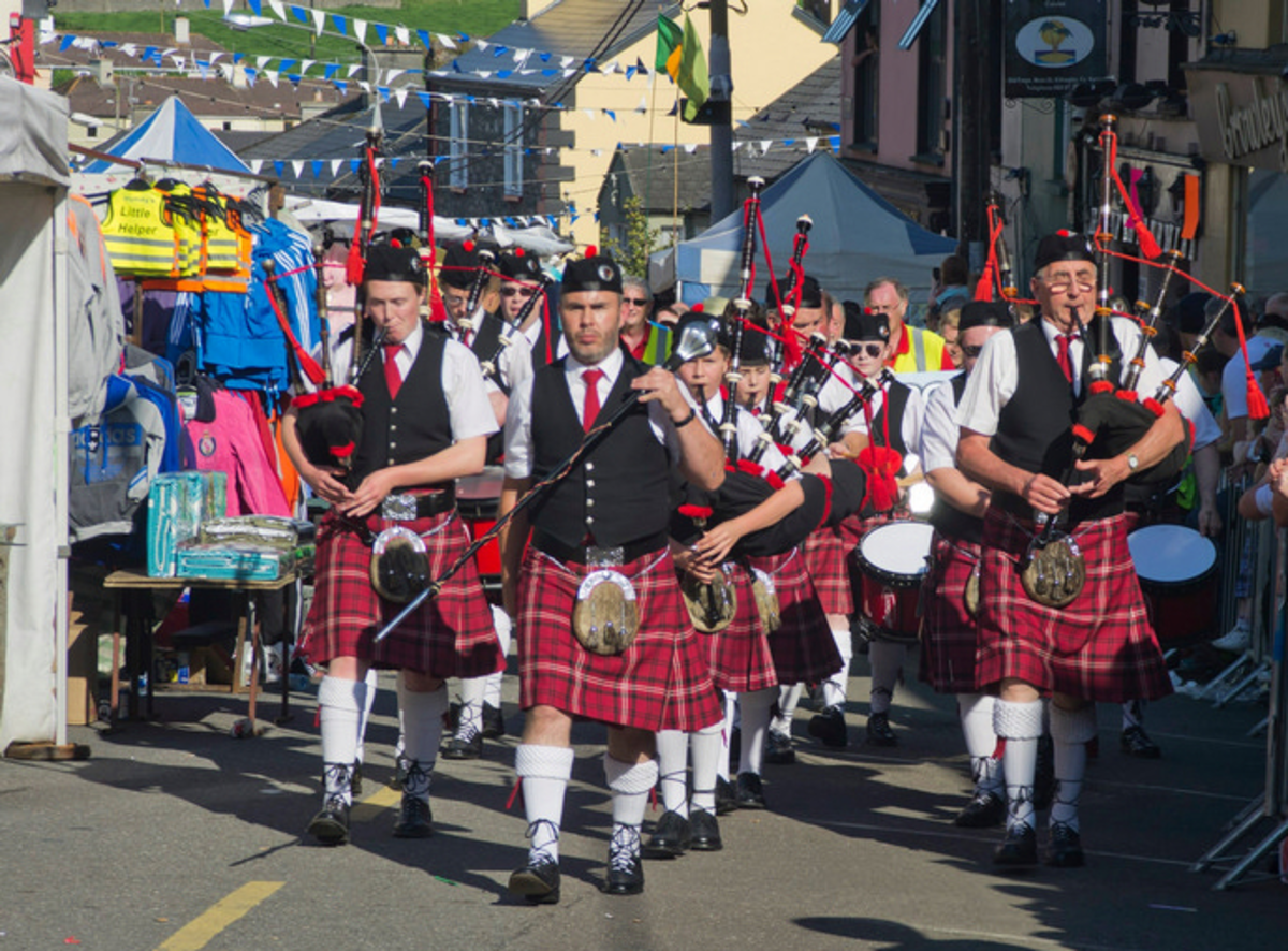 A carnival atmosphere fills the streets of Killorglin