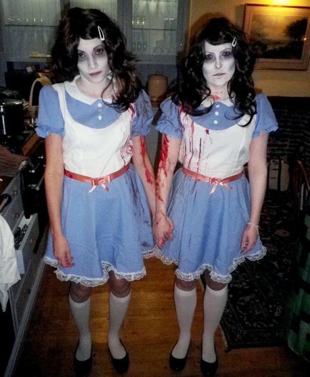 "The Grady Twins from ""The Shining"" Costume for 2 (Blood splattered or not. The option is yours.)"