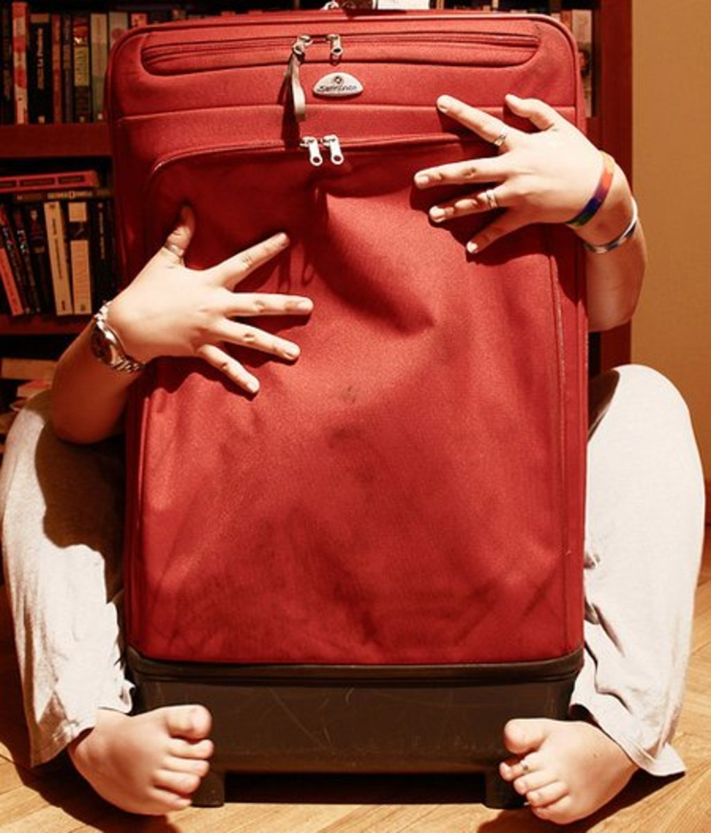 Torso in a Suitcase Costume
