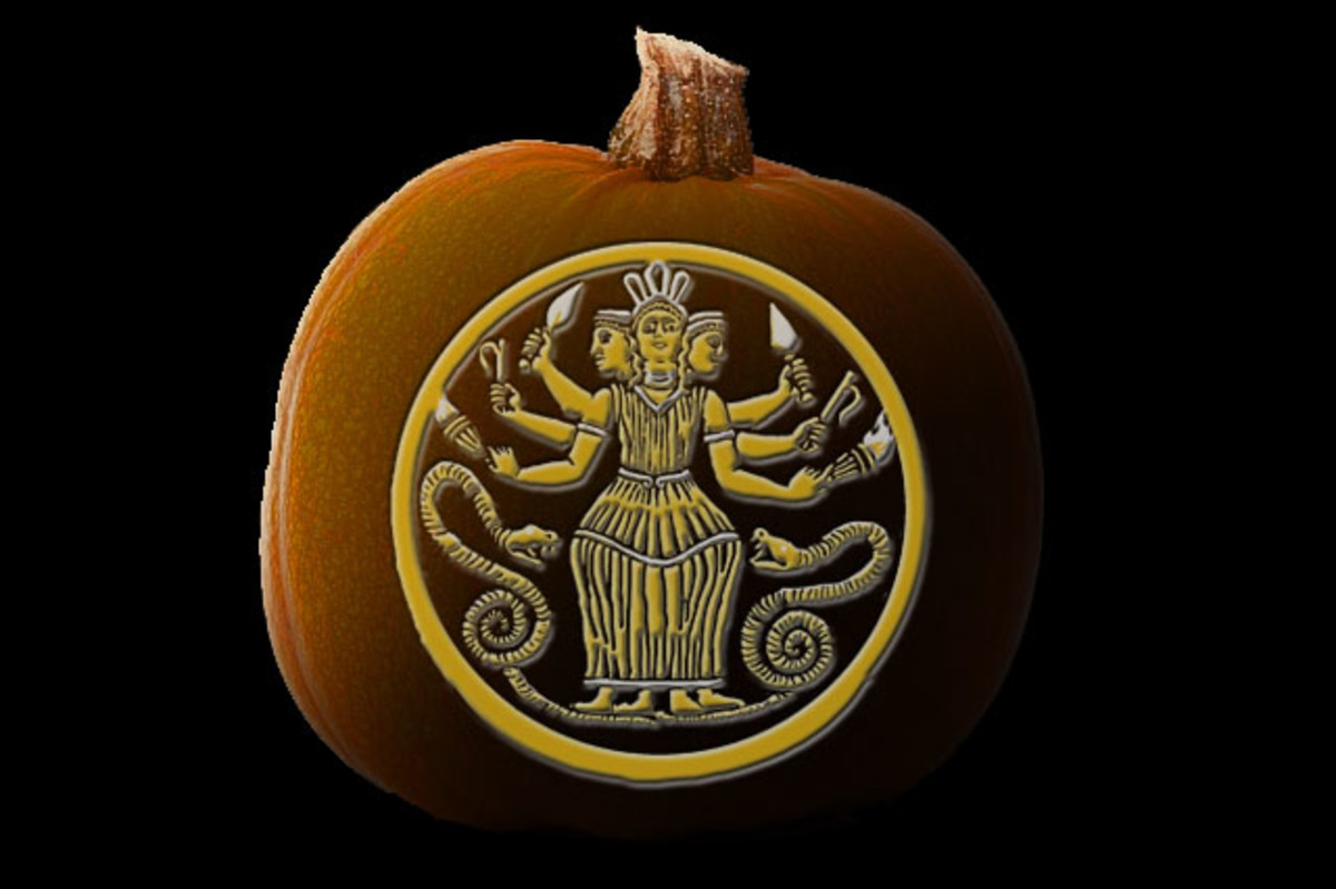 This is what the pattern will look like when carved into a pumpkin. I think this one's my favorite this year.