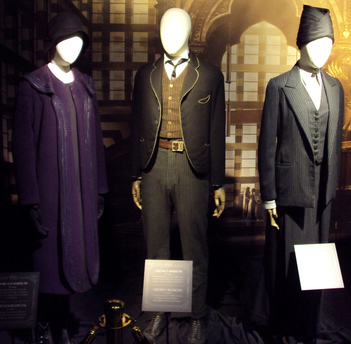 If you only have a robe of an unusual colour, like purple, why not dress as one of the characters from the new Fantastic Beasts franchise?