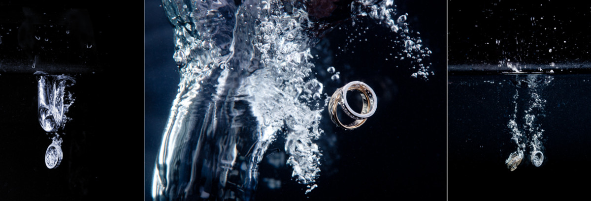 Wedding rings in water