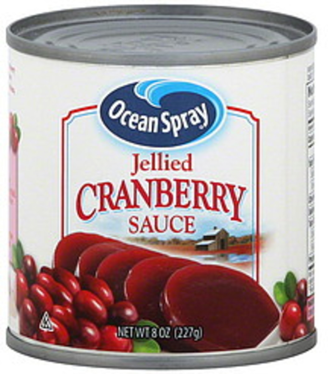 Ocean Spray cranberry jelled slices. Remember this?  We ate this when we were kids.