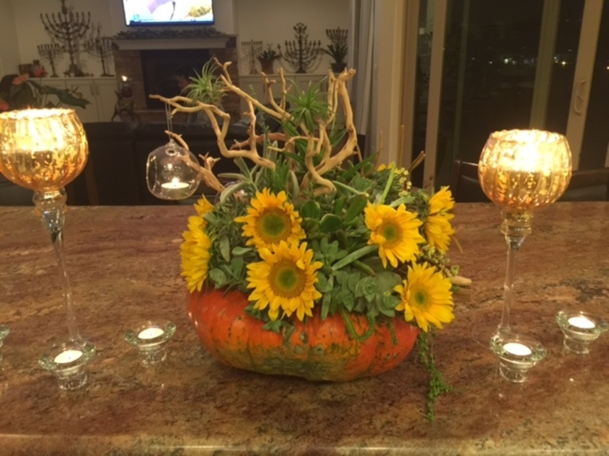 Plug in some seasonal fall flowers and it takes on another appeal.