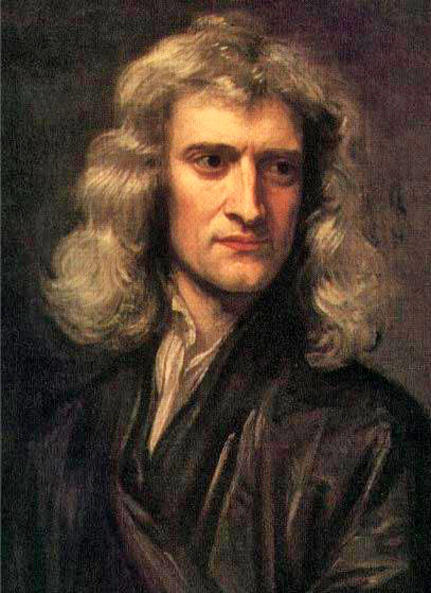 Isaac Newton, 1696, Painting by Godfrey Kneller