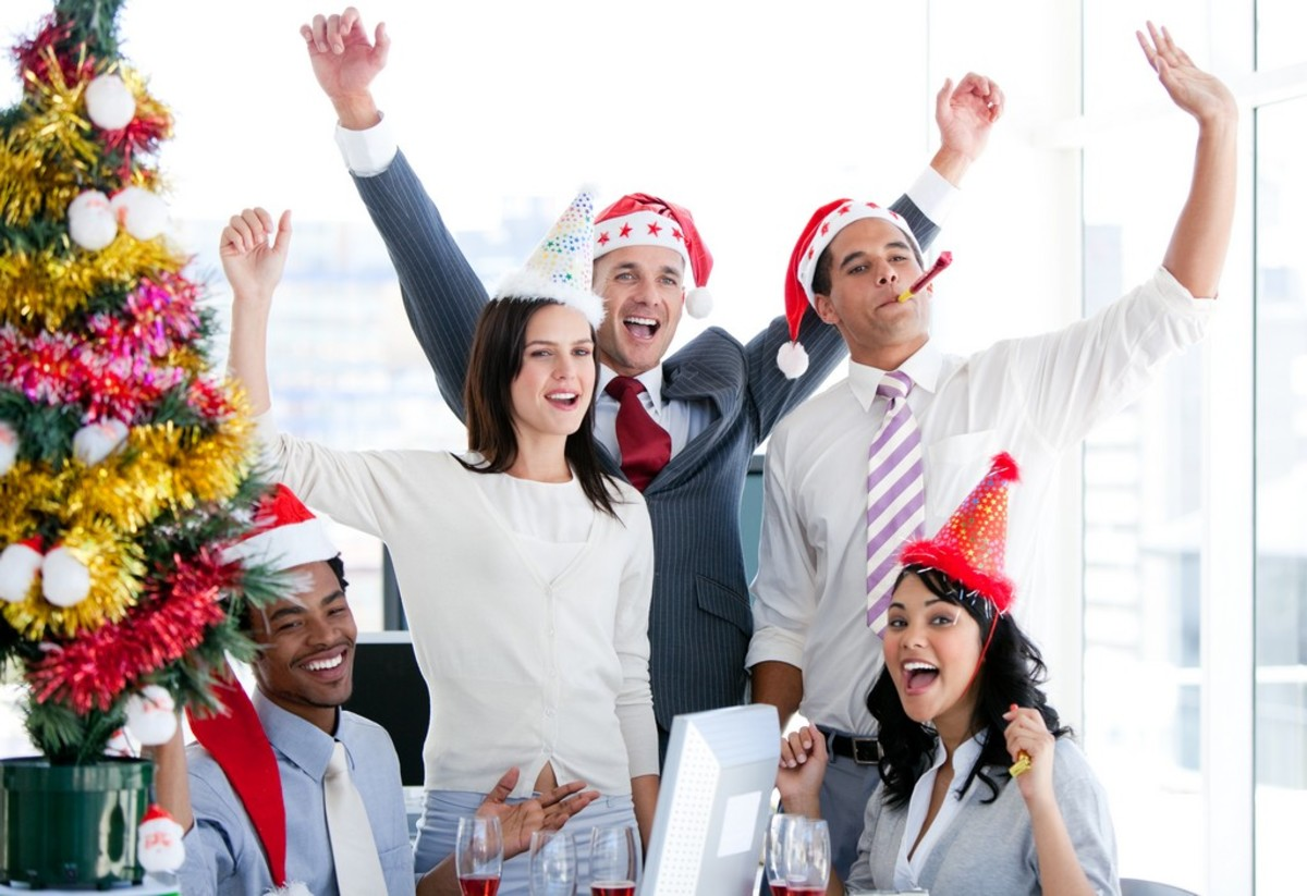Office parties are the perfect venue for wacky Christmas games.