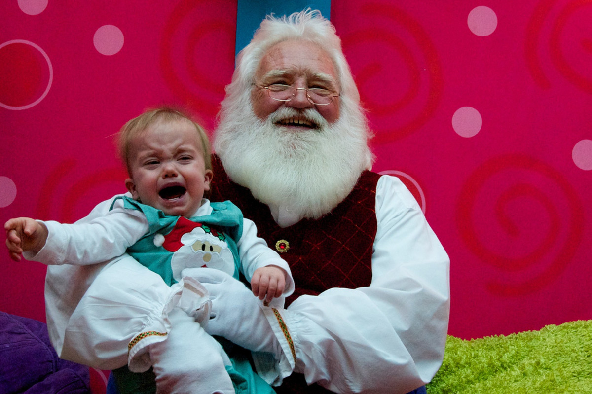 Santa's enjoyment is a little disturbing.