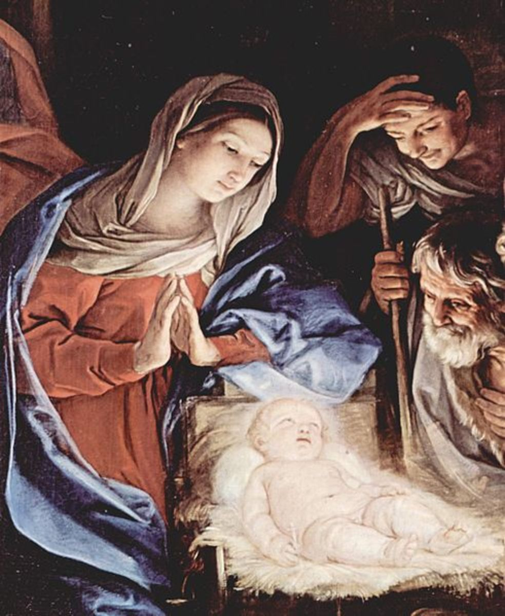 The Nativity scene as depicted by 16th century Italian painter Guido Reni