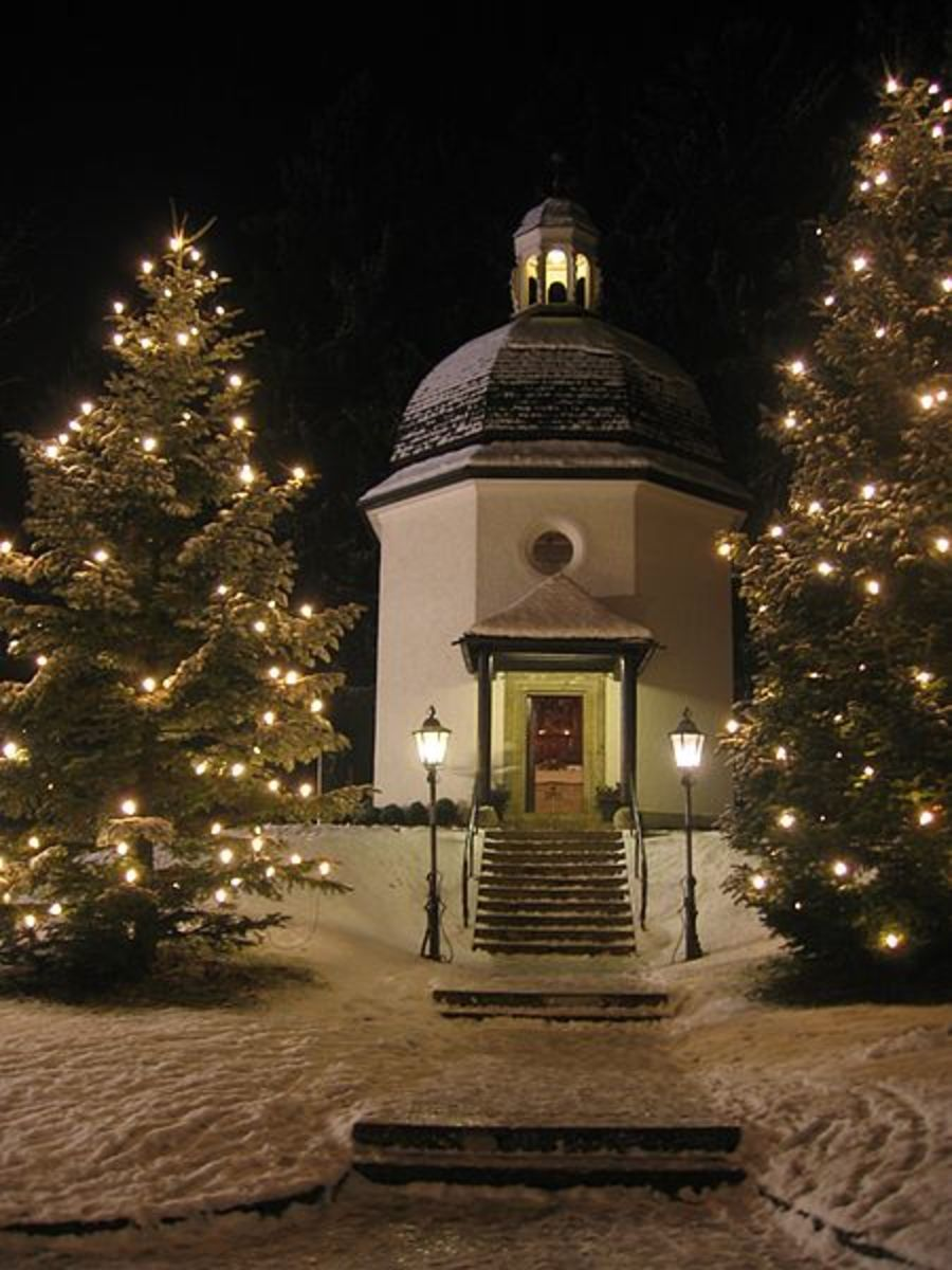 """The Silent Night Chapel in Oberndorf, Austria, where the annual """"Silent Night!"""" Celebration and sing-along takes place"""
