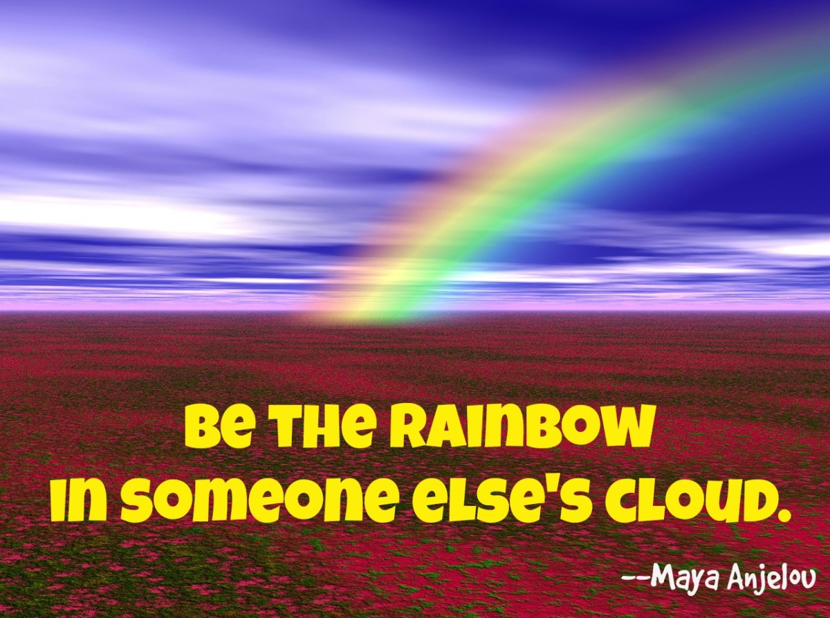 A quote from Mary Angelou uses poetry to urge kindness.