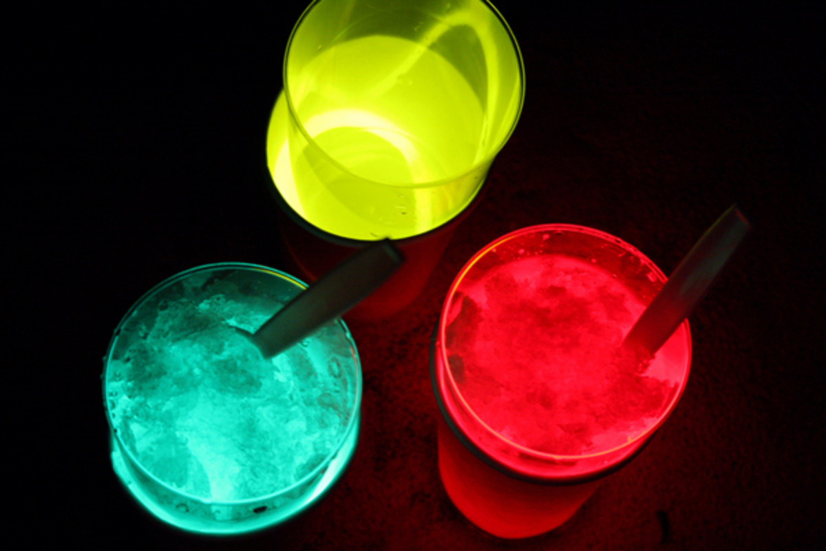 Make glow-in-the-dark drinks and watch your 3000s futuristic party come to life.