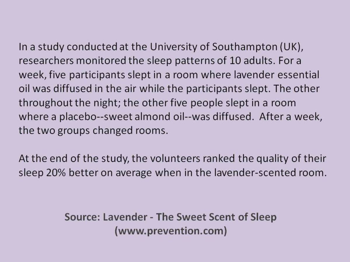 What does a good night's sleep smell like?