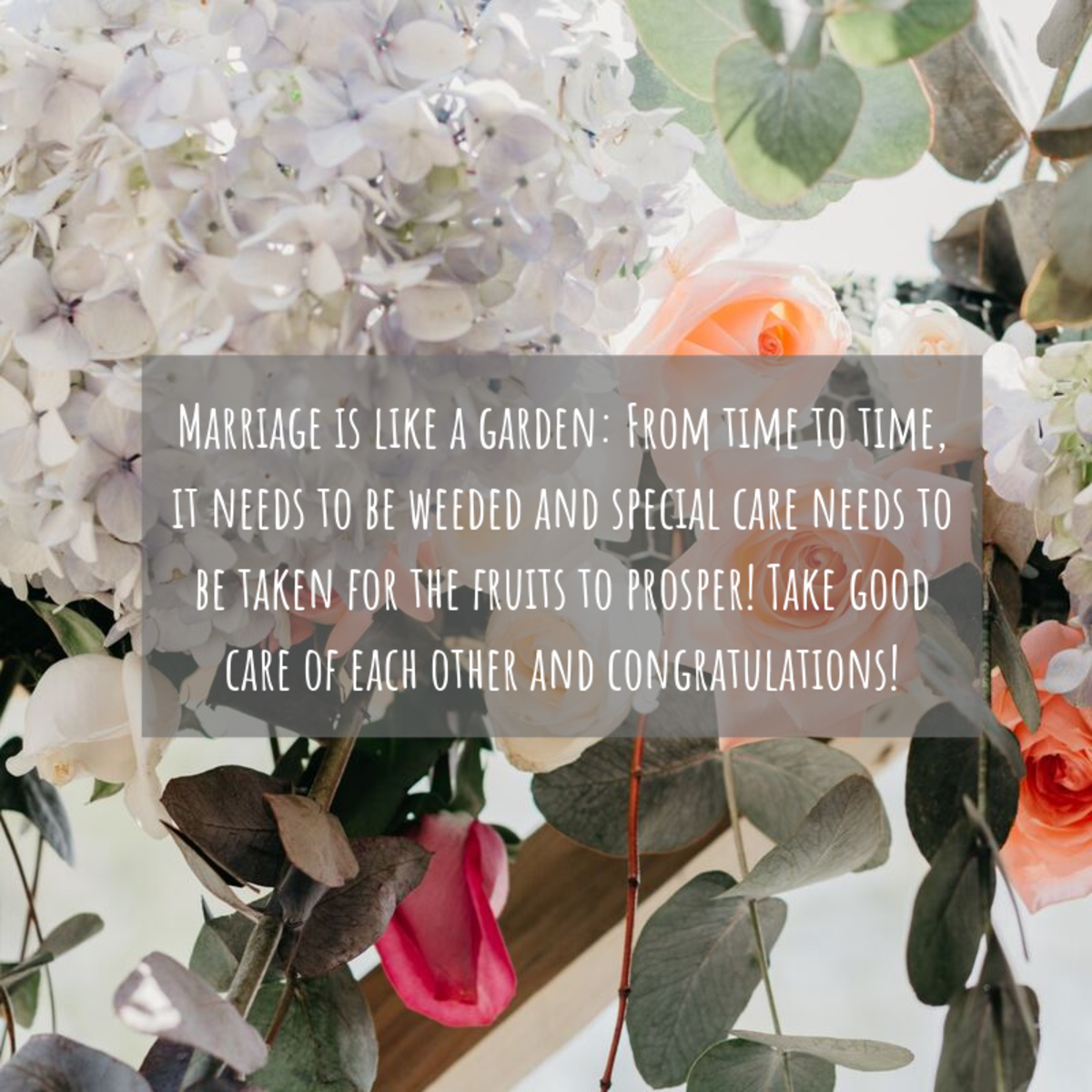 Make your words stand out from the crowd. Write something fun, positive, and affirming for the bride-to-be.
