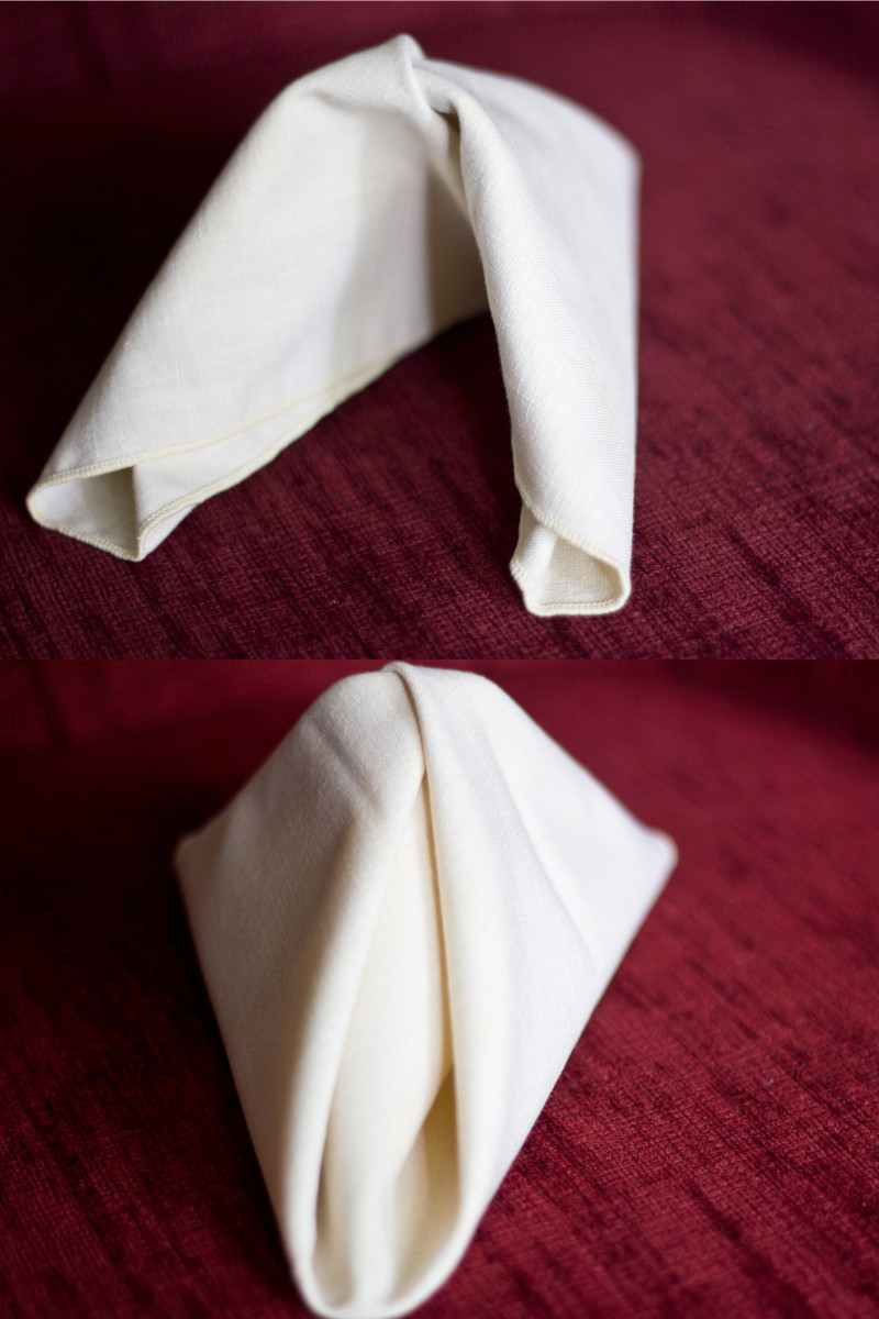 The classic folded napkin.