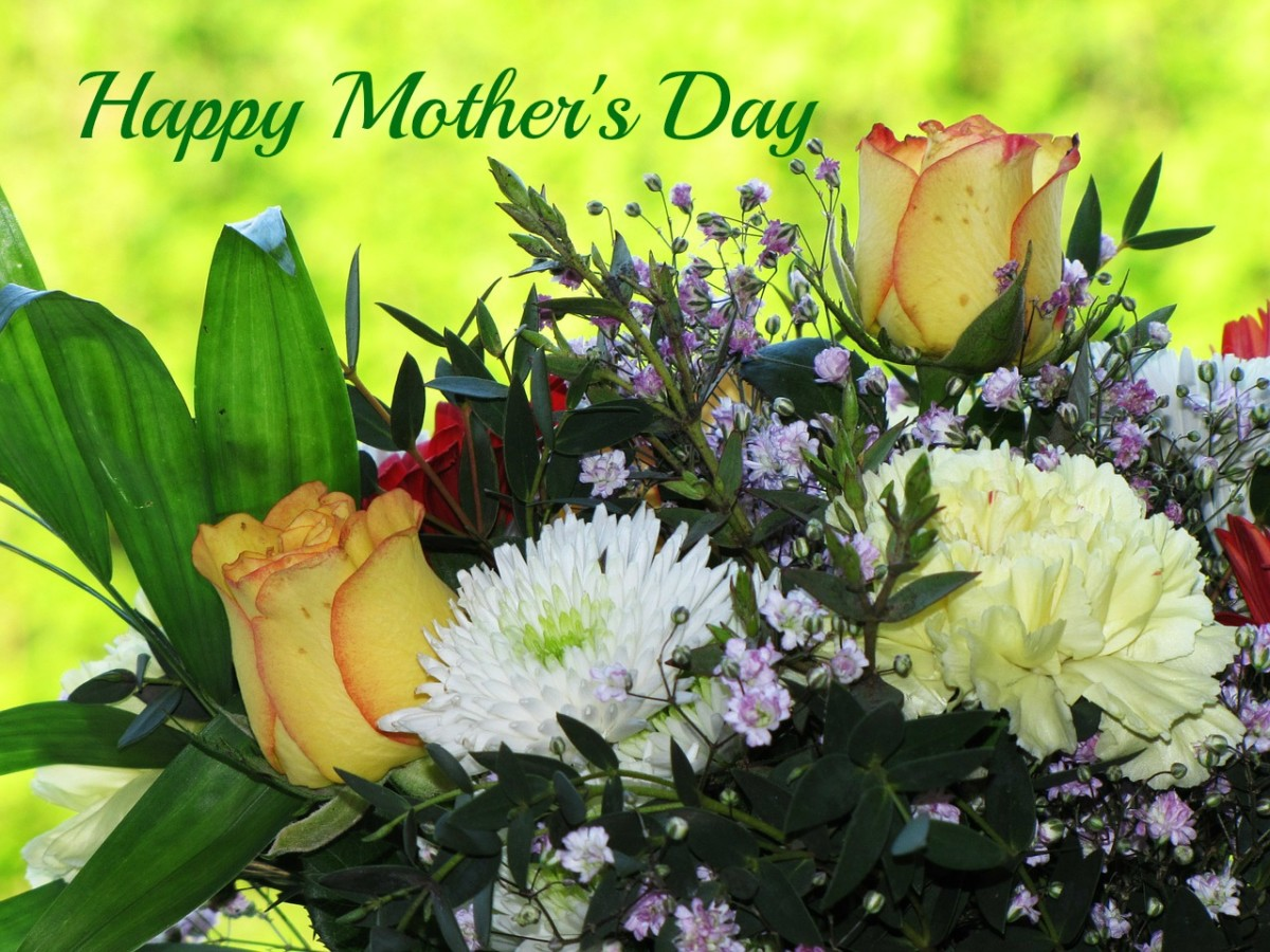 Flowers are a traditional gift for mothers on Mother's Day.